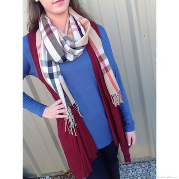 Perfect Plaid Infinity Scarf