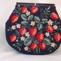 Vintage Martha Klein Needle Point Purse  by CarriersCozyCottage