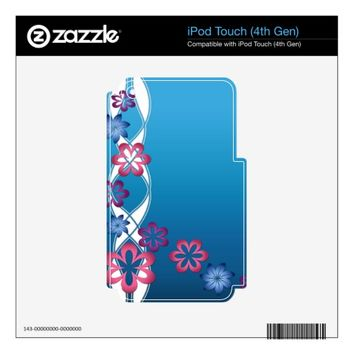 Spring Flowers Skins For iPod Touch 4G