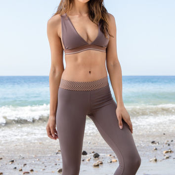 Olympia Activewear -  Kore 3/4 Legging | Clay
