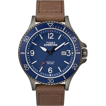 Timex Expedition® Ranger Watch - Leather w/Blue Dial