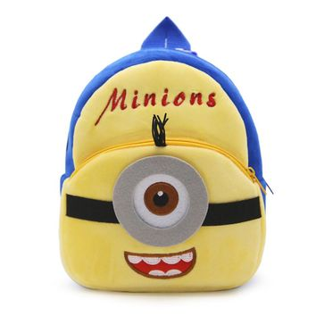 Zshop 1 to 3 Years Old Kids School Bag Minions Bookbag Cute Cartoon Children Backpack