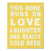 Love and Cold Beer Poster from Zazzle.com