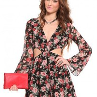Floral Cutout Dress - Clothes | GYPSY WARRIOR