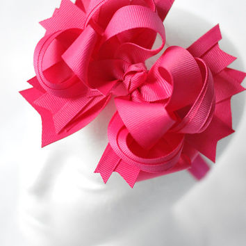 Big bow headband for girls, Baby headband bow, Big pink bowband for toddlers, Big baby headband, Pink bow headband, Pink bow