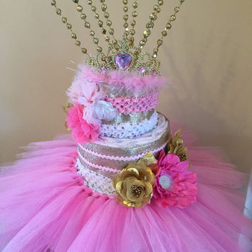 Beautiful Diaper Tutu Cake,Baby Shower Centerpiece, Baby Shower Gift,Baby Shower,Mom