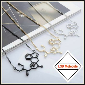 LSD Chemical Molecule Structure Necklace