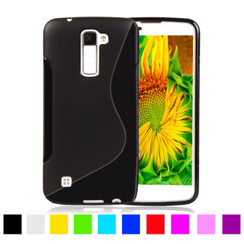 For LG K8 Soft S LINE Printed Silicone Phone Cases For LG K8 K350N PHOENIX 2 K371 Escape 3 K373 Plastic Rubber Matte Phone Cover