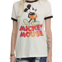 Disney Mickey Mouse Vintage Girls Ringer T-Shirt