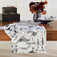 Halloween Skellie Toile Runner