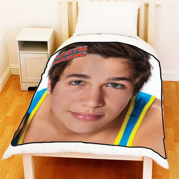 AUSTIN MAHONE American Pop AustinMahone Singer Fleece Blanket Bedding Throw Unique Gift