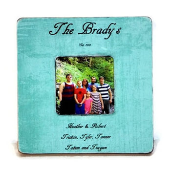 Family est. Personalized Custom Picture Frame Wedding, Engagement, Anniversary, Parents Gift, Maid of Honor, Best Friend Custom Photo Frame