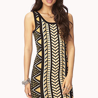 Cutout Geo Bodycon Dress