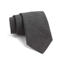 Fulton Herringbone Tie in Dark Storm