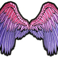 Beautiful Angel Wings Patch Pink Purple