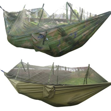 Tactical 300kg Maximum Camping Outdoor Waterproof Hanging Nylon Bed + Mosquito Net! FREE SHIPPING!
