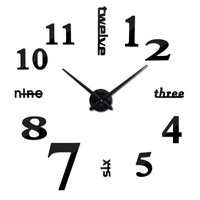 Fashion  Clock  Watch  Clocks  Acrylic  Mirror  Decorati