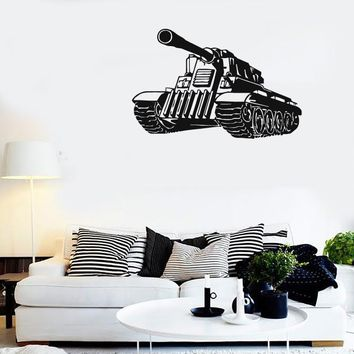 Wall Stickers Vinyl Decal Tank Army Military War Boys Room (ig819)