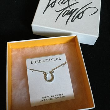 Lord & Taylor Sterling Silver Horseshoe Necklace