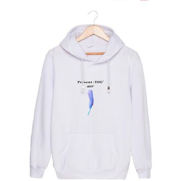 Casual Long Sleeved Pullover Hoodies, Teens Adult Hooded Sporty Sweatshirt with Front Pocket Drawstring Spring Autumn Shirt