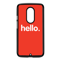 Hello Black Hard Plastic Case for Moto X2 by textGuy