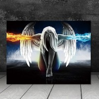 Canvas Painting Wall art picture print  Angel and Demon  decor poster canvas painting Wall art home decor Wall Picture no frame