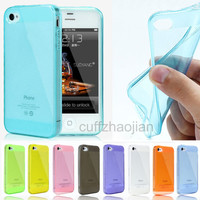 Soft Gel Silicone Thin Crystal Clear Transparent Case Cover For iPhone 4 4S 5 5S