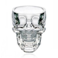 ZLYC Skull-shaped Crystal Glass Wine Cup Color Transparent