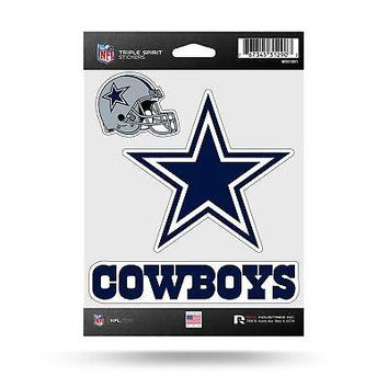 NFL Dallas Cowboys Decal/Stickers Set of 3 Decals Stickers
