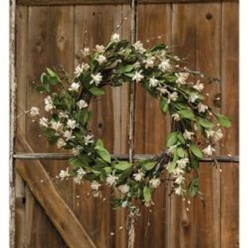 "Teastain Gardenia & Twig Wreath, 20"" - *FREE SHIPPING*"