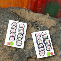 SUSHI ON THE PLATE EARRINGS