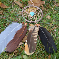 Native American Style Dream catcher, Turquoise Stone  Dreamcatcher, Car Mirror Charm, Car Accessory, Gift Idea for Men