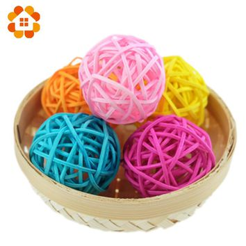 hot sale 20pcs/lot 3cm birthday party decor Wedding decoration Rattan Ball,Christmas Decor Home Ornament Home Decoration