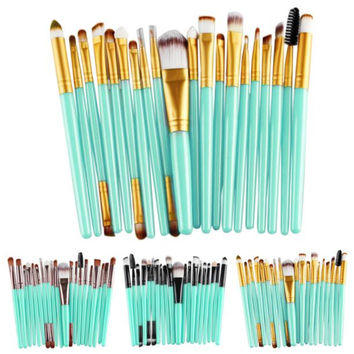2016New Arrival Hot Sale Women Girl High Quality 20 pcs Makeup Brush Set tools Make-up Toiletry Kit Wool MakeUp Brush for beauty