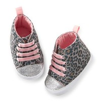 Carter's Animal Print High Top Crib Shoes