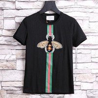 ONETOW GUCCI Fashion Casual Bee Short Sleeve Shirt Top Tee