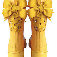 Timber & Tamber French Bow Rain Boots Children Child Gumboots Rubber Yellow