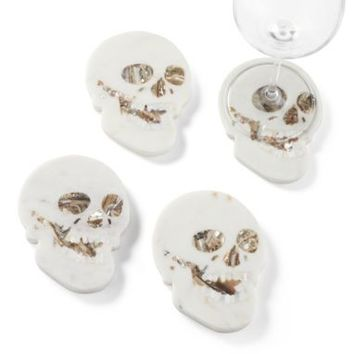 Marble Skull Coaster - Set of 4 | Bar Accessories | Tableware | Z Gallerie