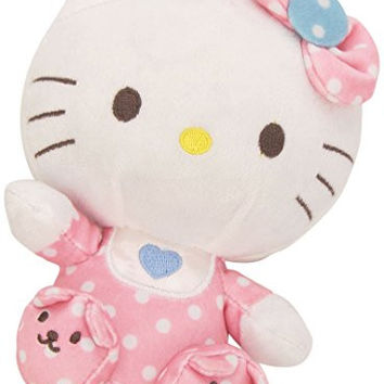 Ty Beanie Babies Hello Kitty Pink Baby with Rattle Plush