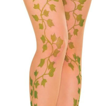 poison ivy women's pantyhose - one-size