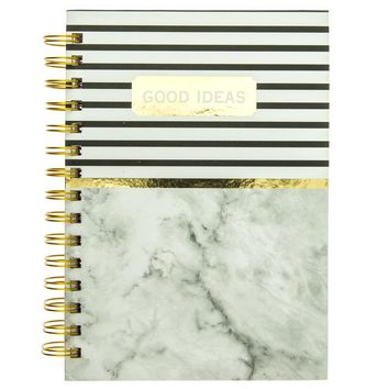 Good Ideas Gold and Marble Print Hard Cover Journal