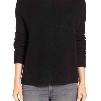 Eileen Fisher 'Bouclé Bliss' Cashmere & Silk Blend Funnel Neck Sweater | Nordstrom