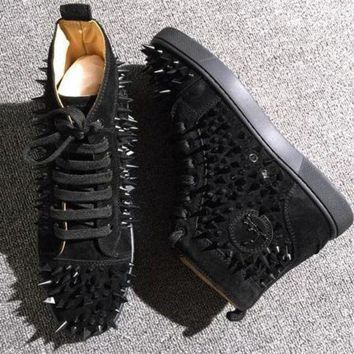 DCCK Cl Christian Louboutin Pik Pik Style #1993 Sneakers Fashion Shoes