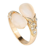 New Hot Vintage Retro Lady Moonstone Gold Ring Womens Fashion Casual Jewelry Unique Best Gift Girl Rings-36