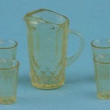 1:12 Scale Pitcher with 4 Glasses Kit, Amber #CHR092A