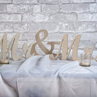 Mr and Mrs sign, Wedding letter set, Freestanding monogram, Sweetheart table, Reception, Bridal Decoration, Newly engaged gift, Ceremony