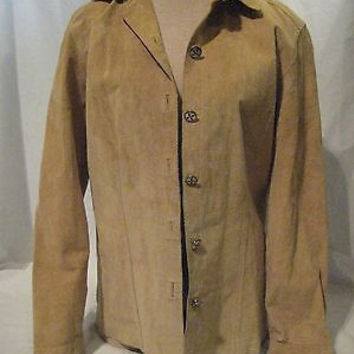 Chico's Suede Jacket Women's Tan Unlined Casual