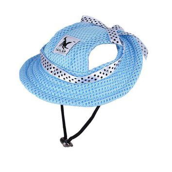 ONETOW Dog Cat Cap Breathable Princess Mesh Sun Hat Beach Hat Small Sun Protection