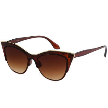 Tortoise Cat Eye Gold Sunglasses