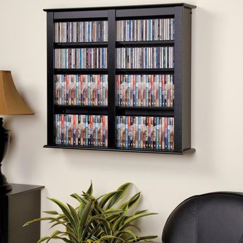 Black Double Wall Mounted Storage -Prepac